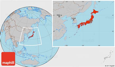 japan world map image gray location map of japan