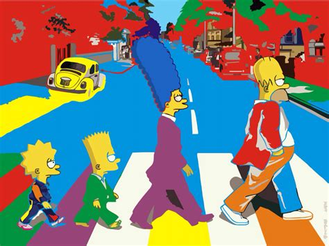 simpsons painting the simpsons do the beatles pop simpsons