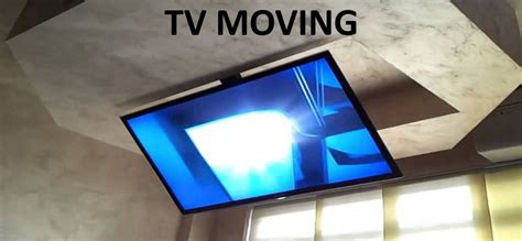 porta tv a soffitto staffe tv moving da soffitto af staffe tv motorizzate