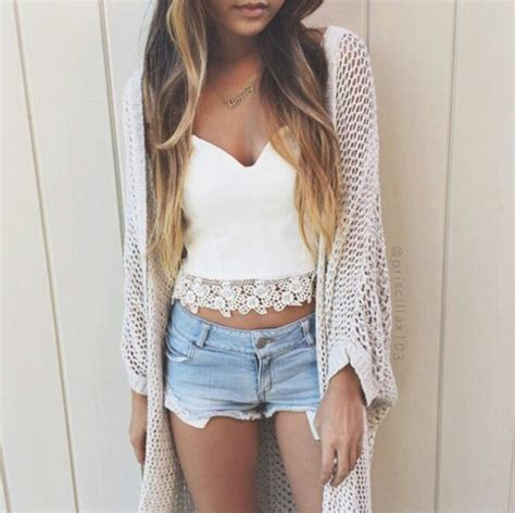 Blouse Mieke Grey shoes top crochet crop top white crop tops crochet top