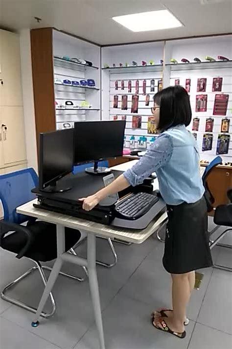 lift up computer desk lift up sit stand desk computer riser for amazon market