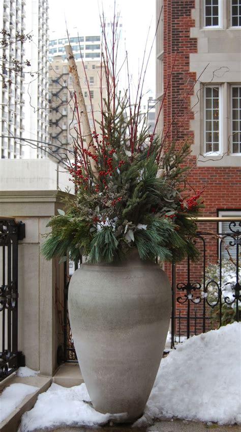 winter holiday christmas decor decorations urn
