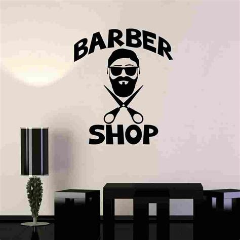 wall decor stickers shopping barber shop sticker name bread decal haircut shavers