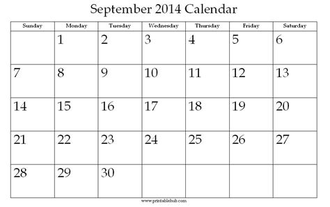 printable monthly planner september 2014 8 best images of printable monthly calendars september