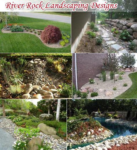 Landscape Pictures Using River Rock River Rock Landscaping Design Tips