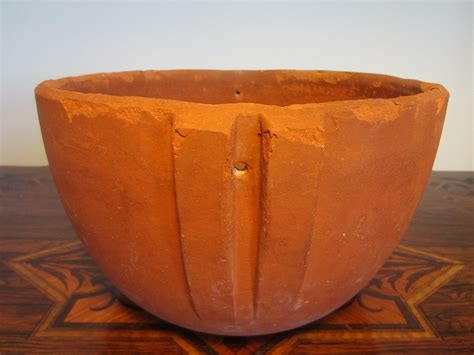 Terracotta Bowl Planter by Terracotta Planter Bowl Metal Stand For Sale Antiques