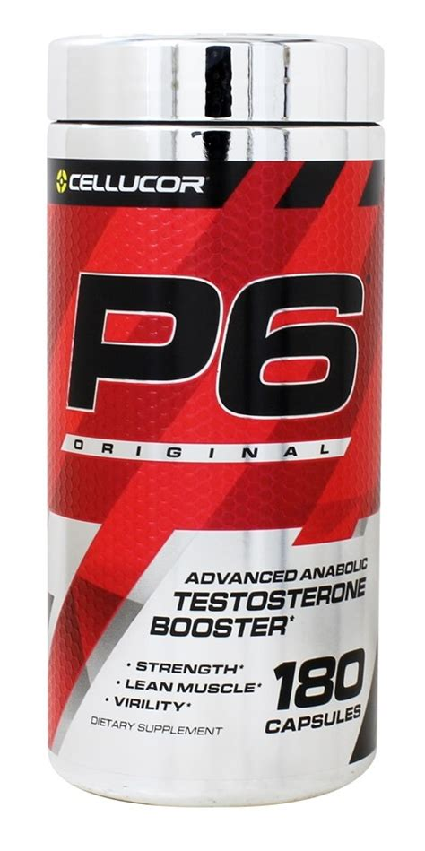 Testoterone Booster Anabolic Rx 24 Original buy cellucor p6 original advanced anabolic testosterone booster 180 capsules at luckyvitamin