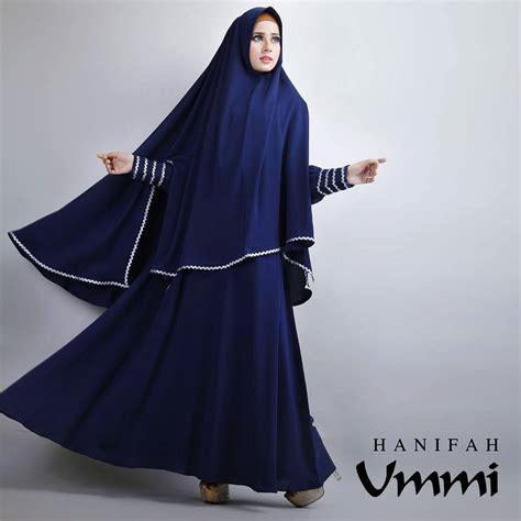 Fashion Muslim Gamis 119793 Gamis Pesta Anastya Navy Berkualitas hanifah navy blue baju muslim gamis modern