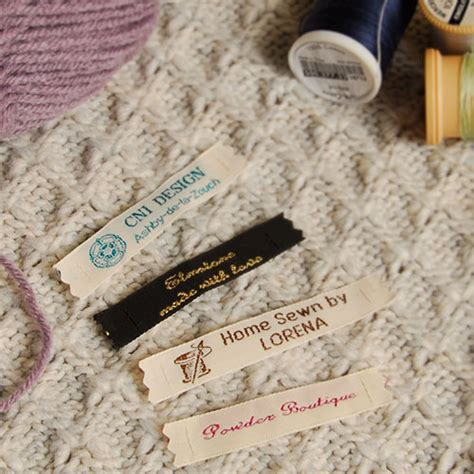 Handmade Labels For Crafts - woven craft labels for handmade knitting crochet gb