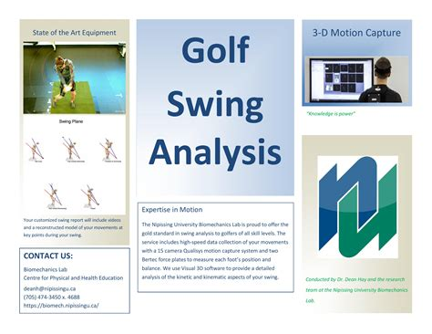 swing analysis golf swing analysis biomechanics and ergonomics laboratory