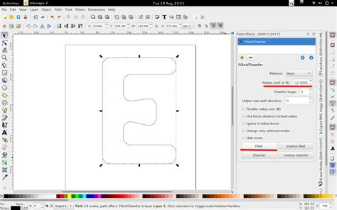 inkscape flowchart inkscape rounding corners of shapes user