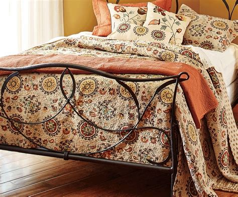Medallion Quilt Set by Andorra Tuscan Mocha Brown Medallion Quilt Set