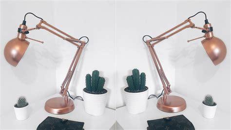 copper l ikea desk l tripod with gold finish brush xh cm lights and