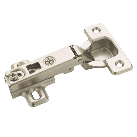 amerock cabinet hinge parts amerock 4 1 2 in nickel frameless 110 176 full overlay hinge