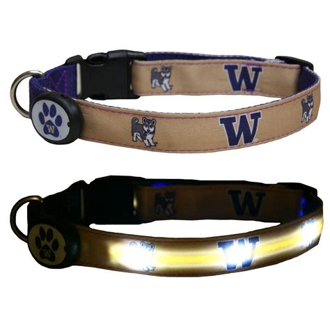 led leash e glow ncaa licensed led lighted pet collars and leashes yugster