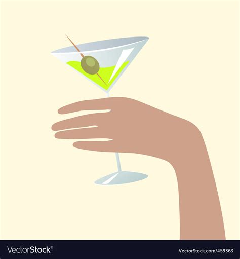holding martini holding a martini glass royalty free vector image