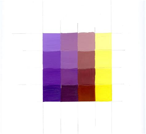 yellow complementary color complementary mixing scale violet yellow emily tobias