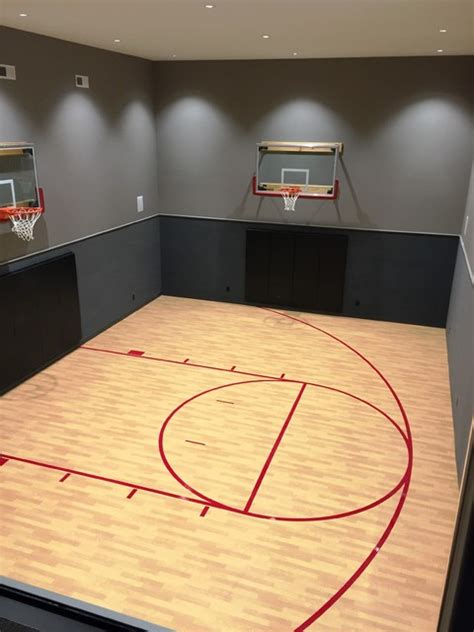 basement basketball court indoor basketball court transitional basement indianapolis by db klain construction llc
