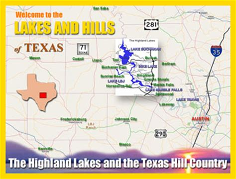 highland lakes texas map texas highland lakes tourist information the highland lakes region includes marble falls