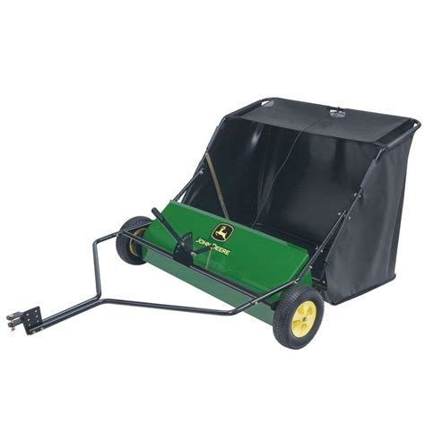 deere 42 in 24 cu ft tow lawn sweeper sts