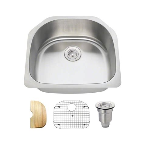 Kitchen Sinks Direct Mr Direct All In One Undermount Stainless Steel 24 In Single Bowl Kitchen Sink 2421 18 Ens