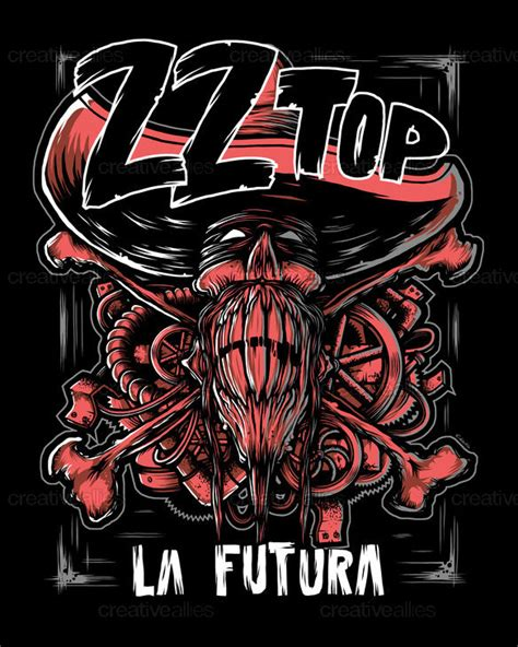 zz top poster by christianwallinillustrations