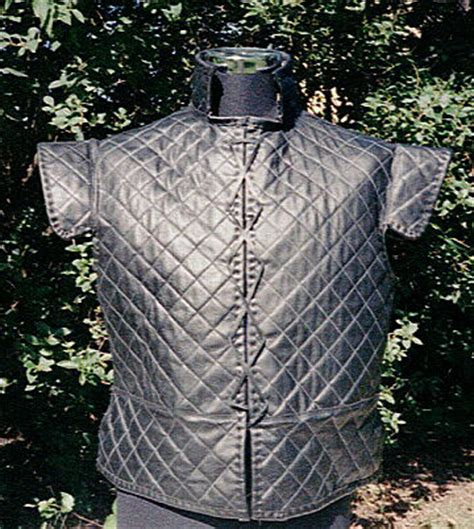 Quilted Doublet by The Padded Armour Company Elizabethan Quilted Leather Jerkin