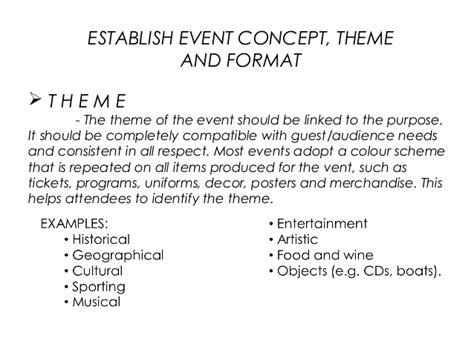 event concept template events management chapter 2 event concepts