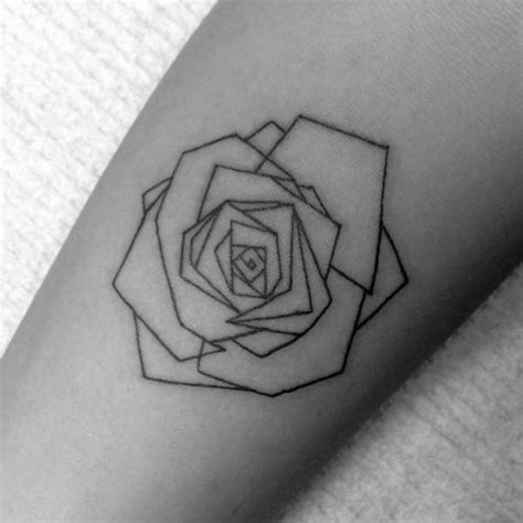 simple rose tattoos on forearm 40 geometric designs for flower ink ideas