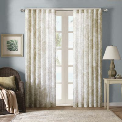 palm tree sheer curtains harbor house palm sheer window curtain panels bed bath