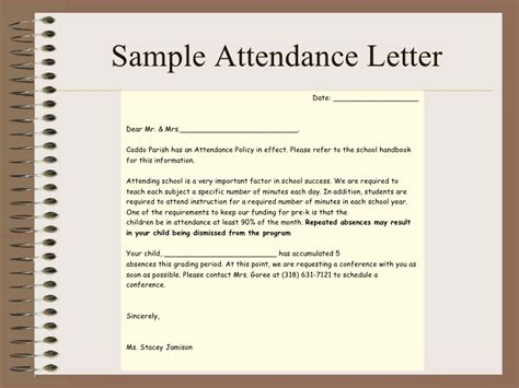 Excuse Letter For Pre K Parent Orientation Total