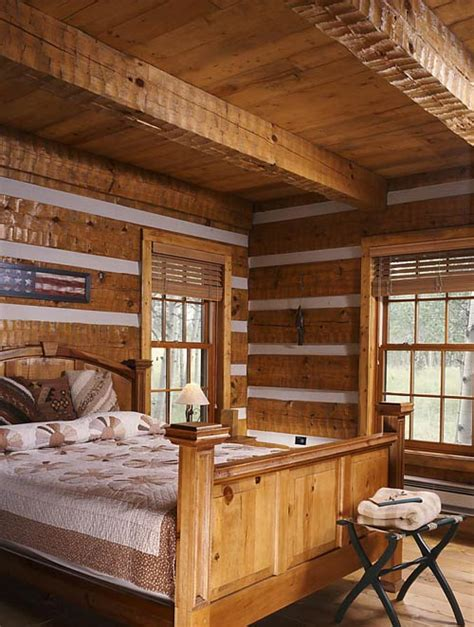 Rustic Cottage Bedroom by Rustic Cottage Photos Found In Translation Hearthstone Log Homes Log Home Living