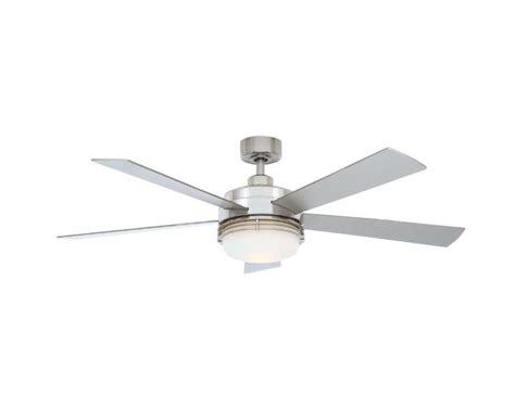 hton bay ceiling fan globe hton bay sussex ii 52 quot brushed nickel ceiling fan