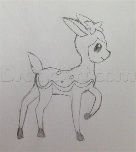 how to draw doodle sketch how to draw deerling deerling from step by step