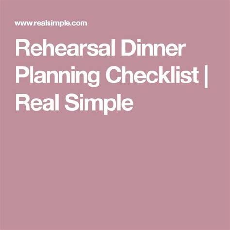 Wedding Rehearsal Checklist by Best 25 Planning Checklist Ideas On
