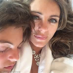Elizabeth Hurley Faces Time Hollyscoop by Elizabeth Hurley S Damian Charles Is Spitting Image Of