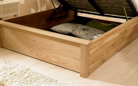 wooden frame ottoman bed emporia monaco 5ft kingsize solid oak ottoman bed frame by