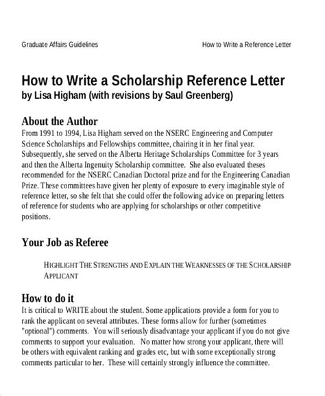Character Reference Letter For Student Scholarship Sle Reference Letter For Student Exles In Pdf Word
