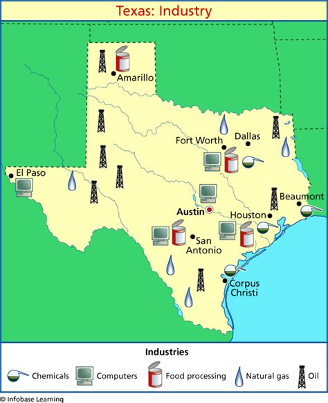 texas crops map texas industry map