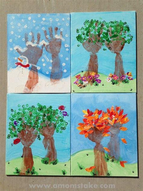 ideas for ks2 calendars seasons of love handprint art handprint art giveaway