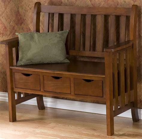 foyer bench seat mission style headboard plans free woodworking projects