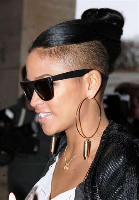 haircuts ventura undercut top knot girl