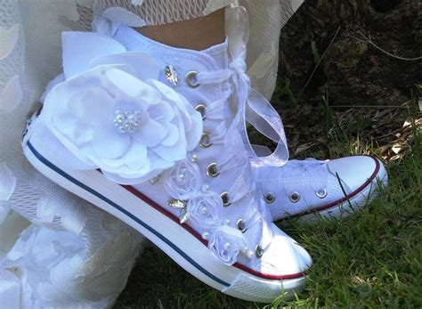 Wedding Shoes With Flowers by Wedding Shoes White Wedding Shoes Converse Wedding Shoes