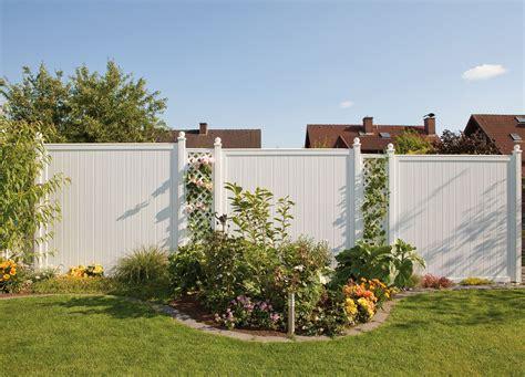 Garten Sichtschutz Kunststoff by Gartenzaun Holz Weis Sichtschutz Bvrao