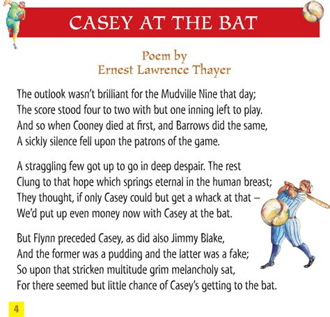 printable version of casey at the bat casey at the bat maestro classics