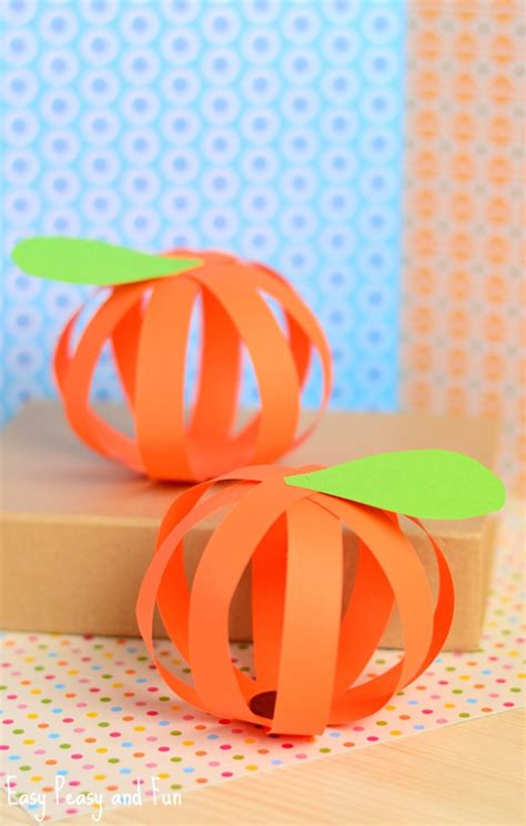 Paper Pumpkin Crafts - paper pumpkin craft easy peasy and