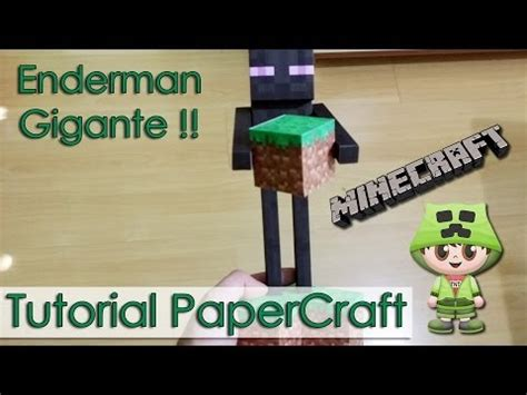 Minecraft Papercraft Tutorial - how to make a minecraft papercraft enderman how to make