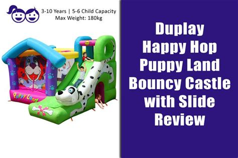 puppy land happy hop puppy land bouncy castle with slide review deals