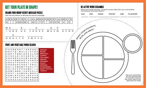6 best images of myplate printable sheet protein myplate
