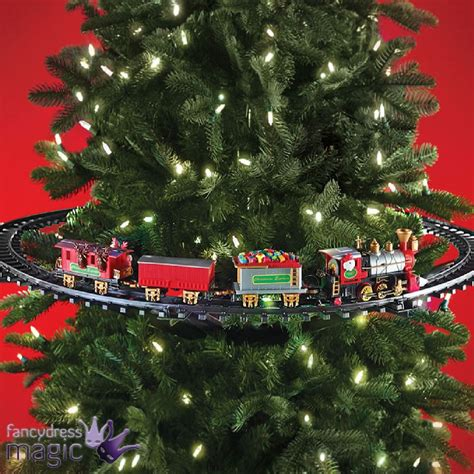 mounted christmas tree train festive light up sound